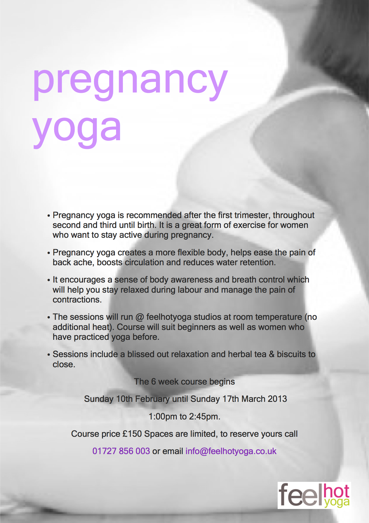 Shasharishi Sports and Wellbeing Massage » Feel Pregnancy Yoga